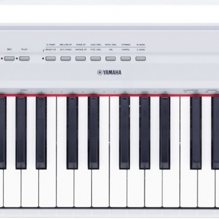 The Yamaha P115 Digital Piano (White) - Top View