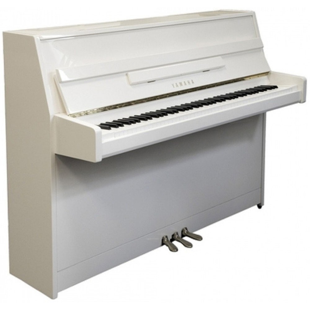 Yamaha ju109 polished white upright piano piano city sydey for Yamaha b1 piano price
