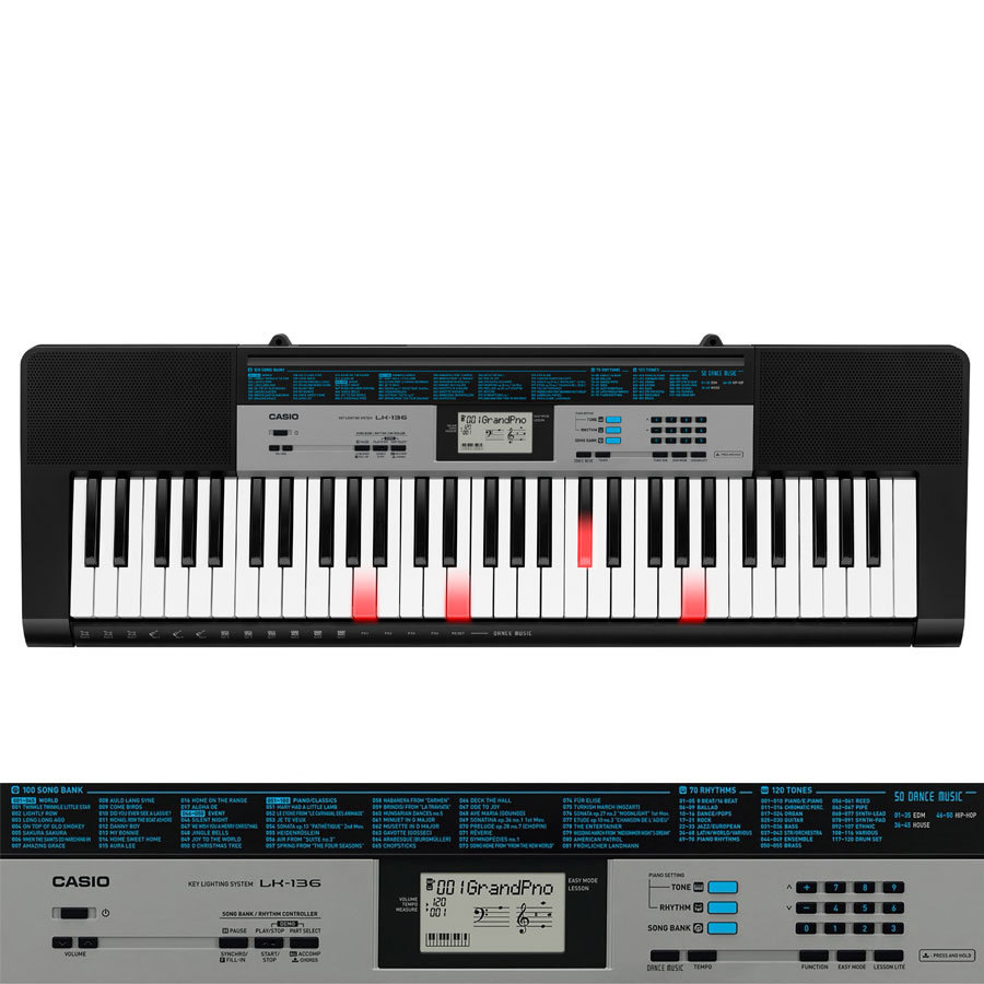 Casio Lk136 Lighting Keyboard Built In Lessons Piano City